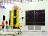 Solar panel deployment test under progress