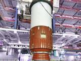 Nozzle End Segment of GSLV-D6 First Stage being placed on the Mobile Launch Pedestal