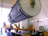 Cryogenic Upper Stage being transported to VAB