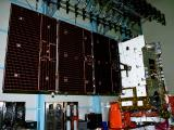 GSAT-31 during North Solar Panel deployment test