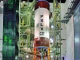 PSLV-C37 Liquid Stage at Stage Processing Facility