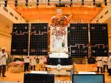 Cartosat-2 Series Satellite undergoing Panel Deployment Test