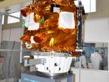 Spacecraft undergoing Dynamic Balancing Test