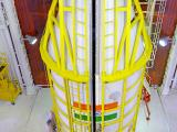 PSLV-C37 Heat-shield is being closed with all the 104 satellites inside
