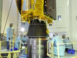 Mars Orbiter Mission Spacecraft is being integrated to the 4th stage of PSLV-C25