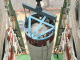 Hoisting of PSLV-C25 second stage in the Mobile Service Tower