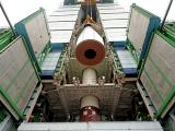 Hoisting of one of the segments of PSLV-C25 First Stage during vehicle integration
