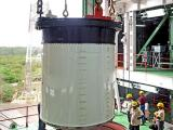 Joining of two segments of PSLV-C25 First Stage in progress in the Mobile Service Tower