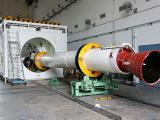 Preparation of one of the strap-ons before its integration with PSLV-C25 first stage