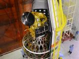PSLV-C35 - Heat shield is being closed with all the Eight Satellites inside