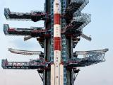 Fully integrated PSLV-C31 with IRNSS-1E at Second Launch Pad