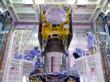 IRNSS-1E spacecraft being integrated with PSLV-C31
