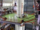 Integration of an 'XL' strap-on motor with the Core Stage of PSLV-C31 in progress