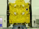 IRNSS-1F spacecraft in clean room at SHAR