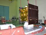 IRNSS-1F being readied for vibration test