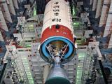 Hoisting of PSLV-C32 Second stage during vehicle integration