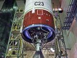 PSLV-C23 Second Stage at Stage Preparation Facility