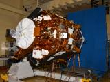 Cartosat-2 Series Satellite undergoing EMI Radiation Test