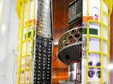 PSLV-C40 Heat Shield is being closed with all 31 Satellites