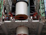 PSLV-C19-PS1-MID SEGMENT-1 BEING STACKED