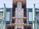 PSLV-C19-FULLY ASSEMBLED STAGE 1
