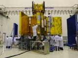 RISAT-1 undergoing prelaunch tests at clean room in SDSC, SHAR