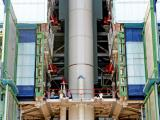 PSLV-C20 first stage assembly in progress at Mobile Service Tower