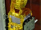 Close up view of SARAL satellite on PSLV - C20