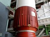PSLV-C21 FIRST STAGE NOZZLE END SEGMENT BEING PLACED ON LAUNCH PEDESTAL
