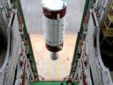 HOISTING OF PSLV-C21 SECOND STAGE DURING VEHICLE INTEGRATION