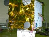 IRNSS-1A Satellite undergoing mass properties measurement