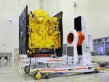 IRNSS-1B satellite in clean room at SHAR