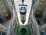 Hoisting of PSLV-C24 Second Stage during vehicle integration at Mobile Service Tower