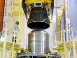 IRNSS-1C being assembled with PSLV-C26