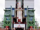 PSLV-C28 Strap-Ons are being assembled with Core Stage at Mobile Service Tower
