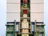 Integration of PSLV-C28 Second Stage in progress at Mobile Service Tower
