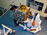IRNSS-1G being prepared for a pre-launch test