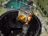 IRNSS-1G being loaded into Large Space Simulation Chamber (LSSC) for thermal vacuum test