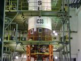 Second stage  of PSLV-C33 being prepared for vehicle integration