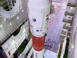 Fully integrated PSLV-C34 at Vehicle Assembly Building