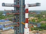 Fully integrated PSLV-C34 with all the 20 Spacecrafts at Second Launch Pad