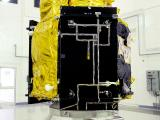 Cartosat-2 Series Satellite in clean room at Sriharikota