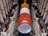 Hoisting of PSLV-C45 Core (First) Stage at Vehicle Assembly Building