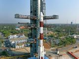 Another view of PSLV-45 at the Umbilical Tower