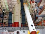 One of the PSLV-C45 STrap-ons at Vehicle Assembly Building