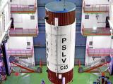 Hoisting of PSLV-C45 liquid second stage during vehicle integration