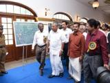 Hon'ble  Cheif Minister of Kerala, Shri Pinarayi Vijayan taken through the Exhibition arranged at Kanakakkunnu Palace