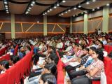 Students attending the interaction programme with Scientists