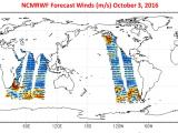 NCMRWF Forecast Winds (m/s) October 3, 2016