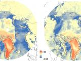 Arctic as observed by Scatsat-1, Oct 03-04, 2016